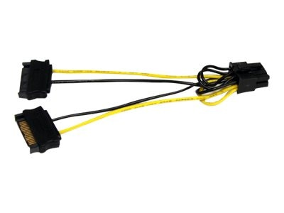 StarTech.com SATA Power to 8pin PCI Express Video Card Power Cable Adapter, 6in