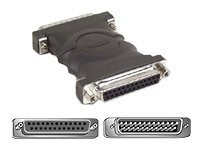 Belkin Null Modem Adapter, Cross-wired DB25 Male Female, F4A602, 111064, Adapters & Port Converters