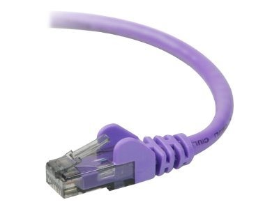 Belkin Cat6 UTP Patch Cable, Purple, Snagless, 5ft, A3L980-05-PUR-S