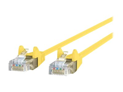 Belkin Cat6 UTP Patch Cable, Yellow, Snagless, 20ft
