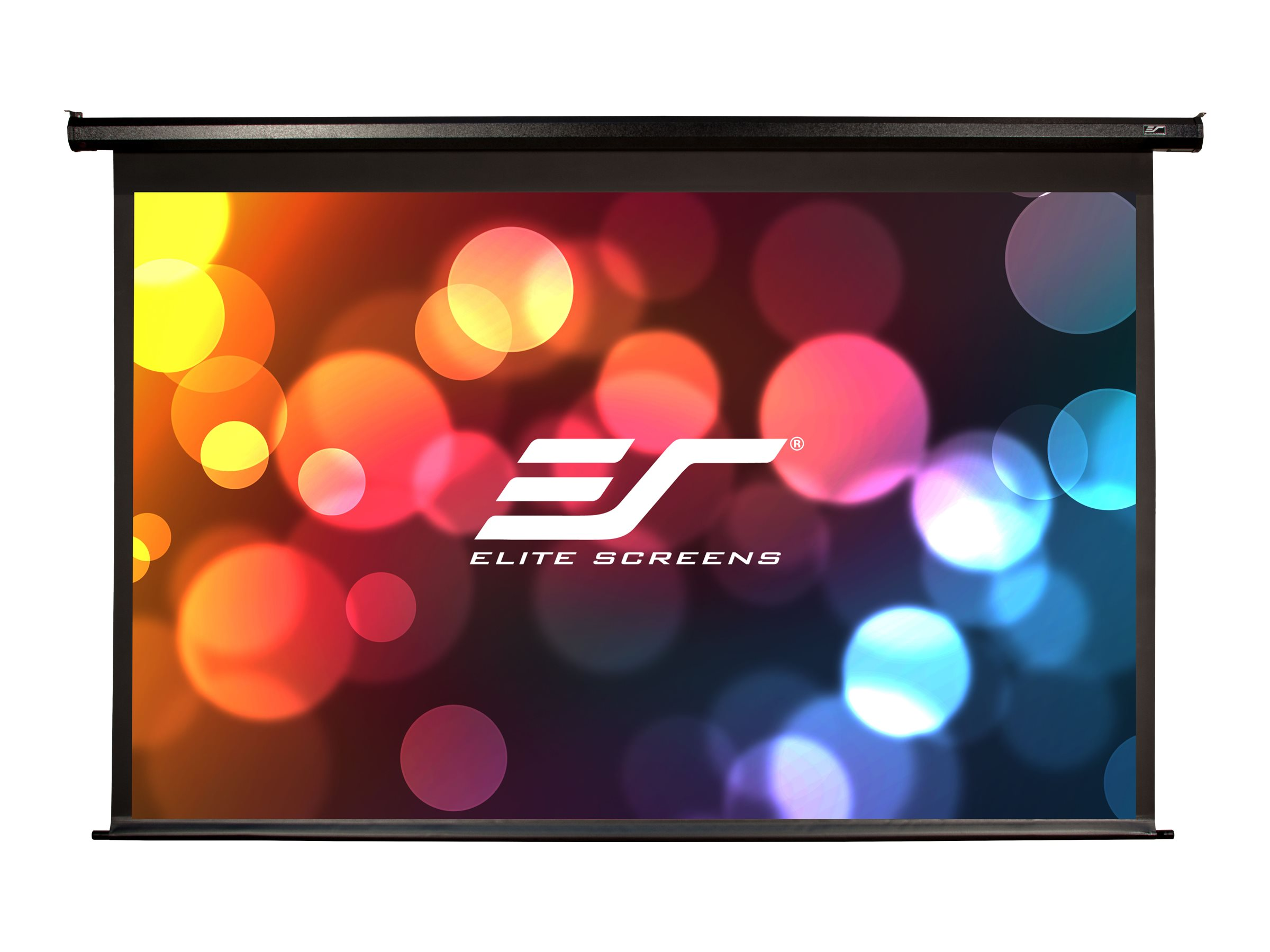 Elite Spectrum Electric Projection Screen with Black Case, Matte White, 16:9, 125in