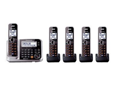 Panasonic Link2Cell BT Cordless Phone w  Answering Machine & (5) Handsets, KX-TG7875S