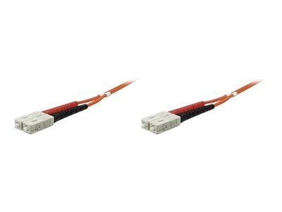 Manhattan SC-SC 50 125 OM2 Multimode Duplex Fiber Cable, Orange, 20m