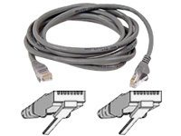 Belkin Cat5e Patch Cable, Gray, Snagless, 100ft, A3L791-100-S, 111034, Cables