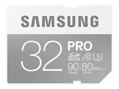 Samsung 32GB Pro SDHC U3 Flash Memory Card, Class 10, MB-SG32E/AM, 30546418, Memory - Flash