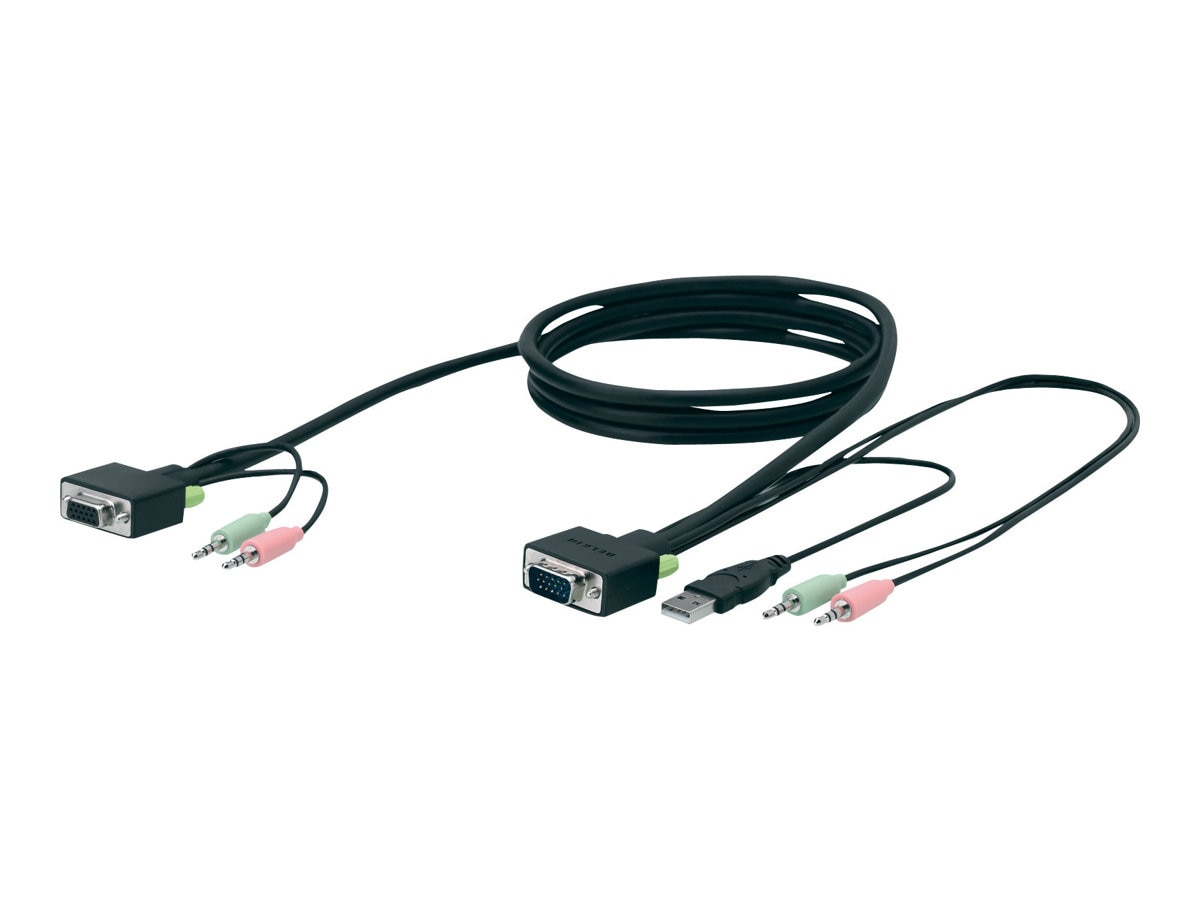 Belkin SOHO KVM Replacement Cable Kit, 10ft - bulk packaging, F1D9103-10, 9249961, Cables