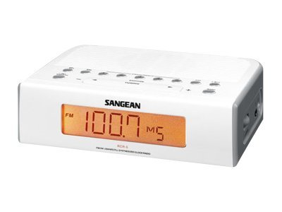 Sangean AM FM Aux Digital Clock Radio, RCR-5, 8725591, Clock Radios