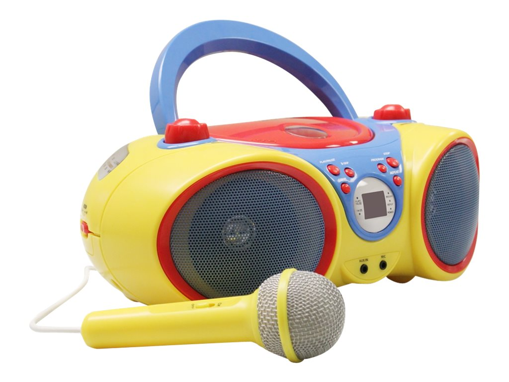 Ergoguys Kids CD Player w  Karaoke Machine & Microphone, KIDS-CD30