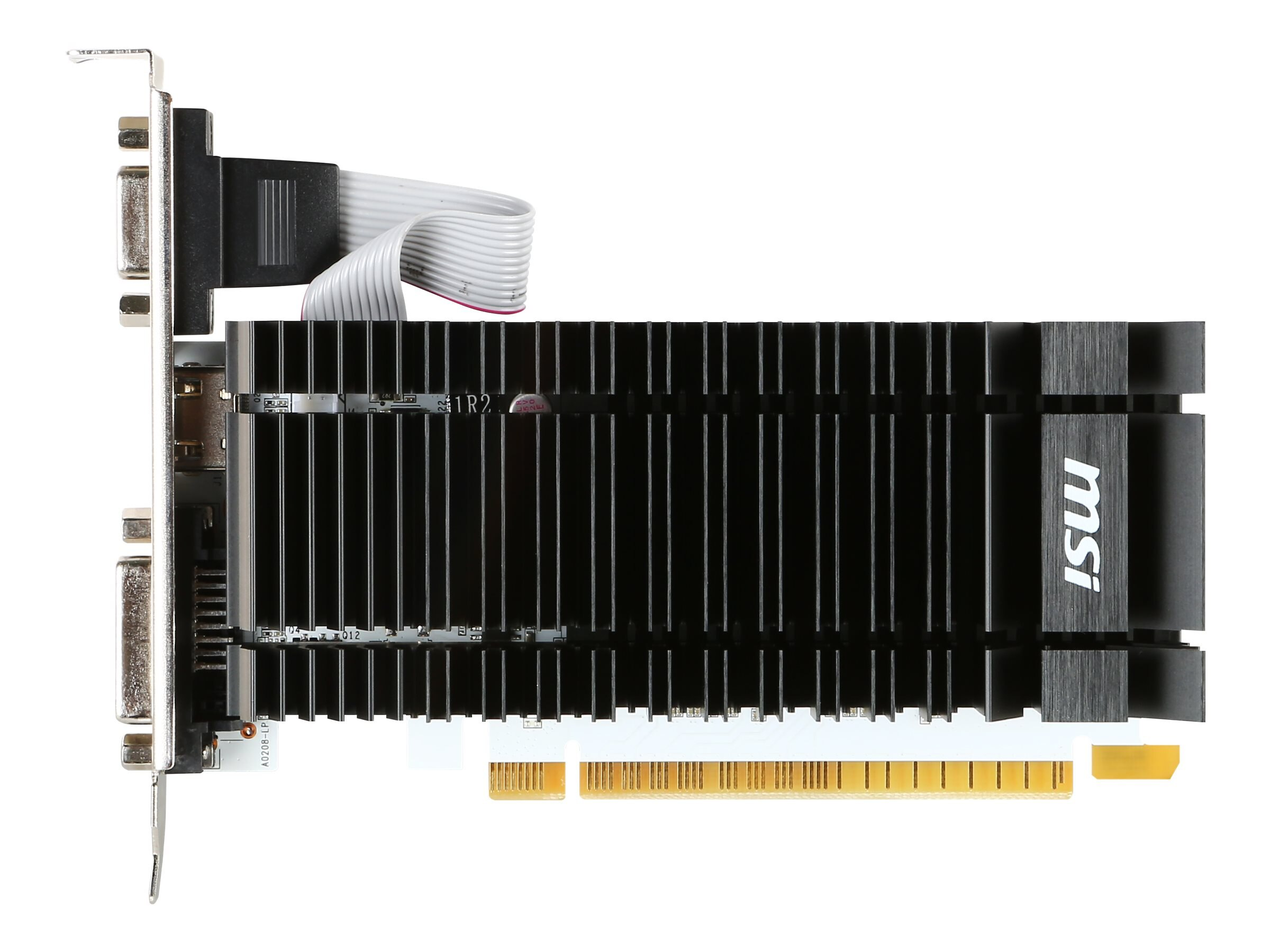 Microstar GeForce GT 730 PCIe 2.0 Graphics Card, 2GB DDR3, N730K-2GD3H/LP