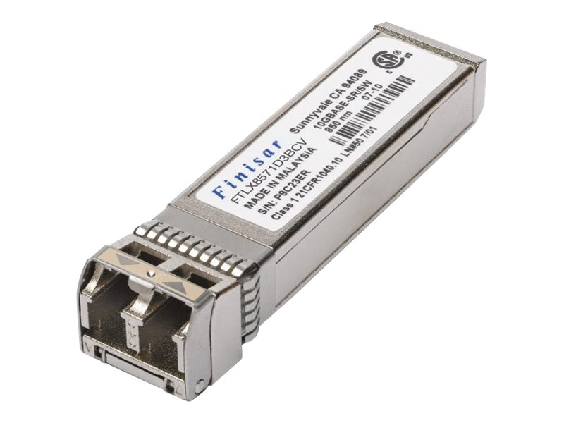 Finisar 1G 10G 850nm Dual-Rate SFP+ Transceiver for Finisar, FTLX8574D3BCV, 31011052, Network Transceivers