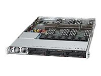 Supermicro SuperServer Barebones 1U RM Xeon 7500 E7-4800 Family Max.1TB DDR3 3x3.5 HS Bays PCIe GNIC 1400W