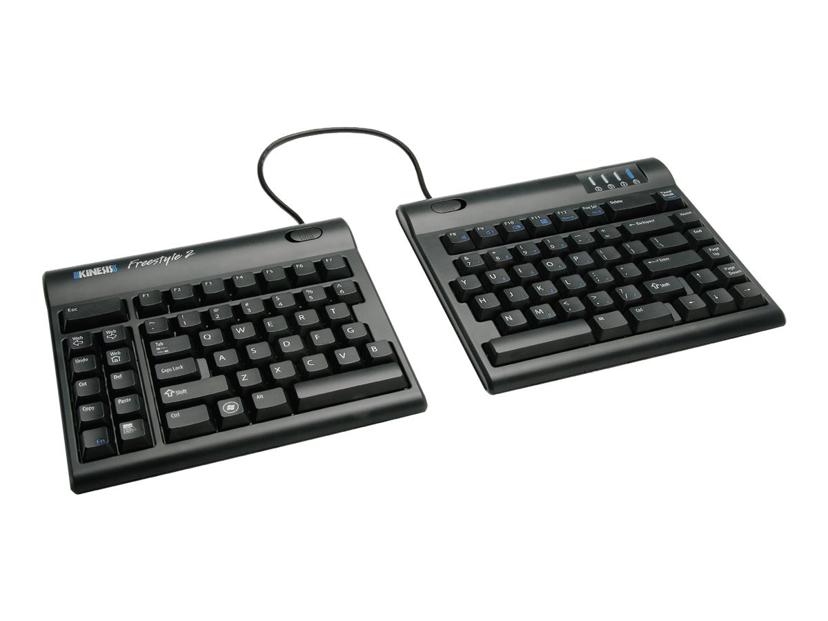Kinesis Freestyle2 Keyboard for PC, 9 Separation, KB800PB-US, 14260583, Keyboards & Keypads