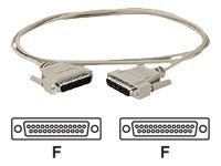Black Box DB25 Serial Null-Modem Cable (F-F), Beige, 6ft.