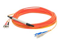 ACP-EP Fiber Conditioning Patch Cable, (2) ST 50 125 to (1) SC 50 125 & (1) SC 9 125, 1m