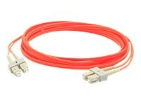 ACP-EP SC-SC 62.5 125 OM1 Multimode LSZH Duplex Fiber Cable, Orange, 2m