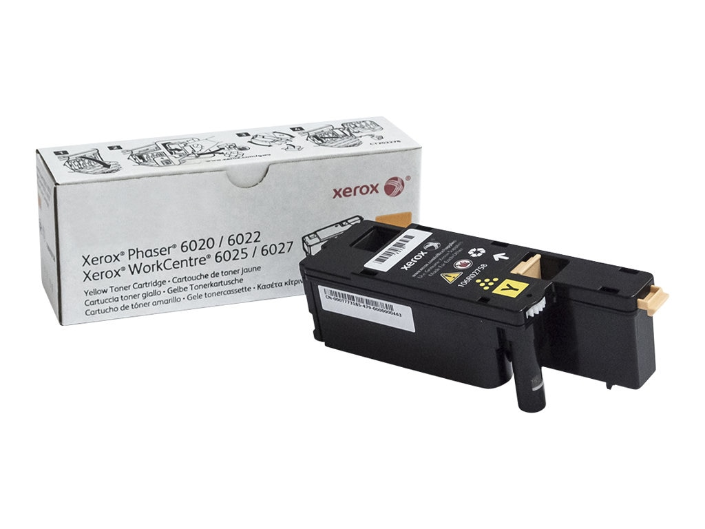 Xerox Yellow Toner Cartridge for Phaser 6022 & WorkCentre 6027, 106R02758, 18441904, Toner and Imaging Components