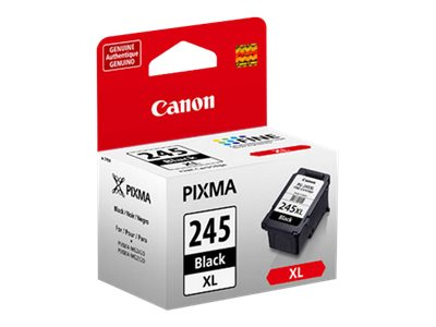 Canon PG-245 XL High Capacity Black Ink Cartridge, 8278B001, 16074661, Ink Cartridges & Ink Refill Kits