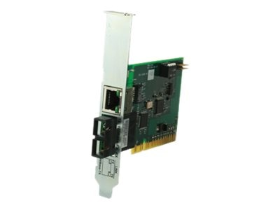 Transition PCI Powered Converter 100BTX to 100BFX MM SC