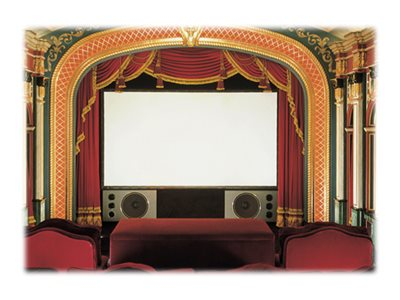 Draper Cineperm Projection Screen, CineFlex, 4:3, 7' 6