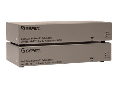 Gefen DVI KVM HDBaseT 2.0 Extender ?with RS-232 and 2-way Audio???, EXT-DVIKA-HBT2