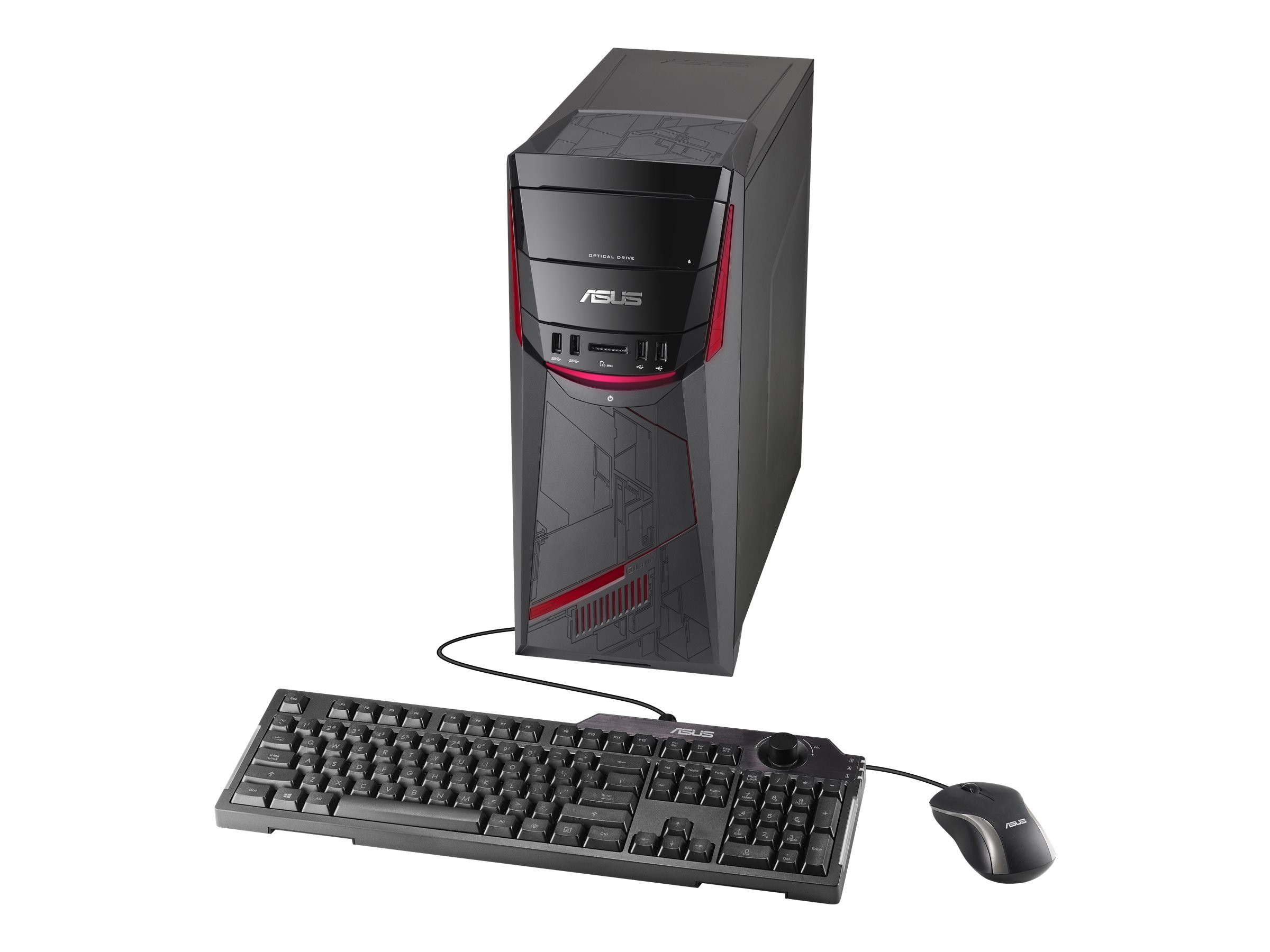 Asus G11CD-WS51 Desktop Core i5-6400 2.7GHz 8GB 1TB GTX970 DVD SM GbE ac BT W10HP64, G11CD-WS51