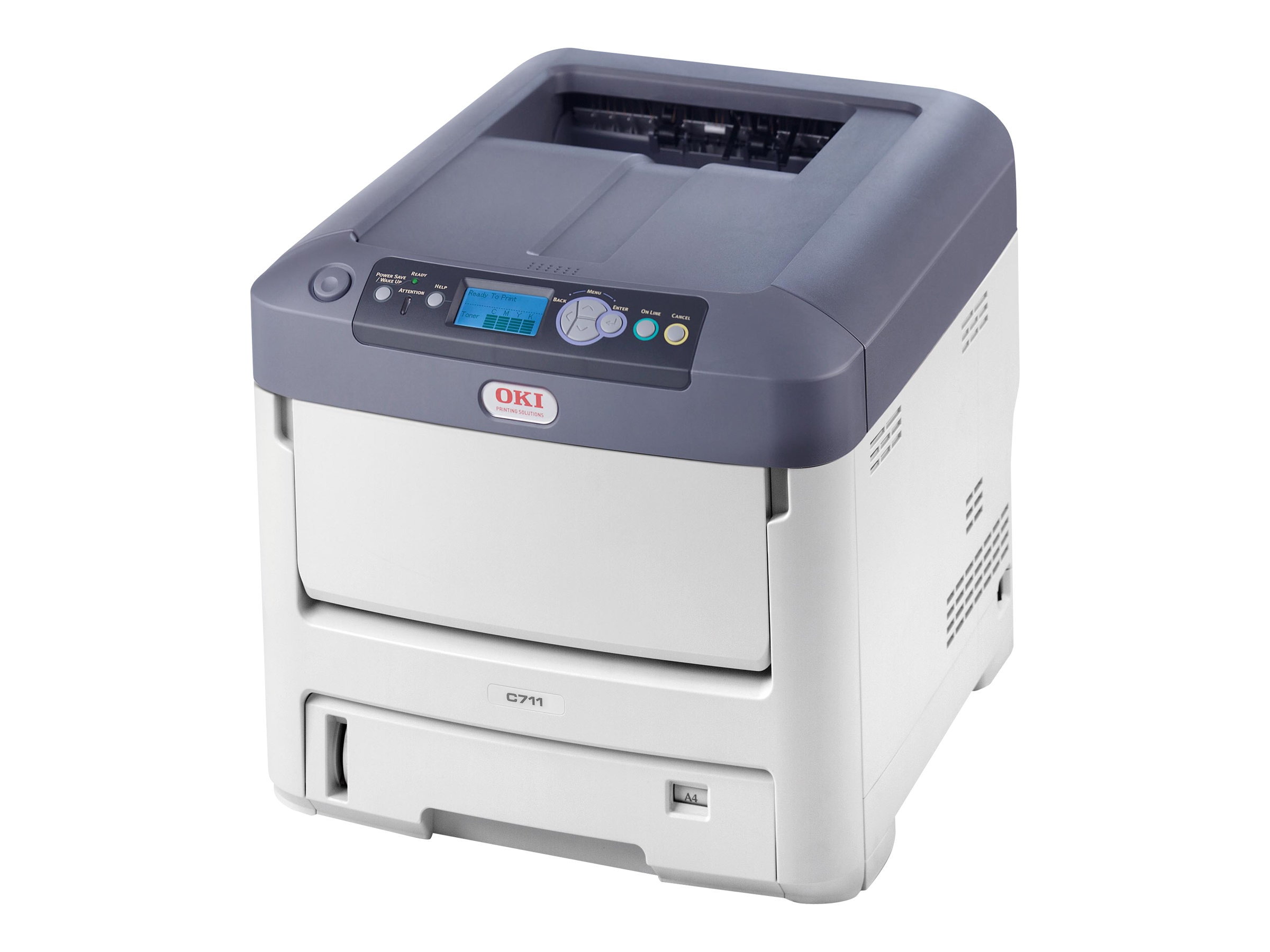 Oki C711dn Digital Color Printer (Multilingual)
