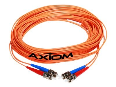 Axiom Fiber Patch Cable, LC-ST, 62.5 125, Multimode, Duplex, 10m