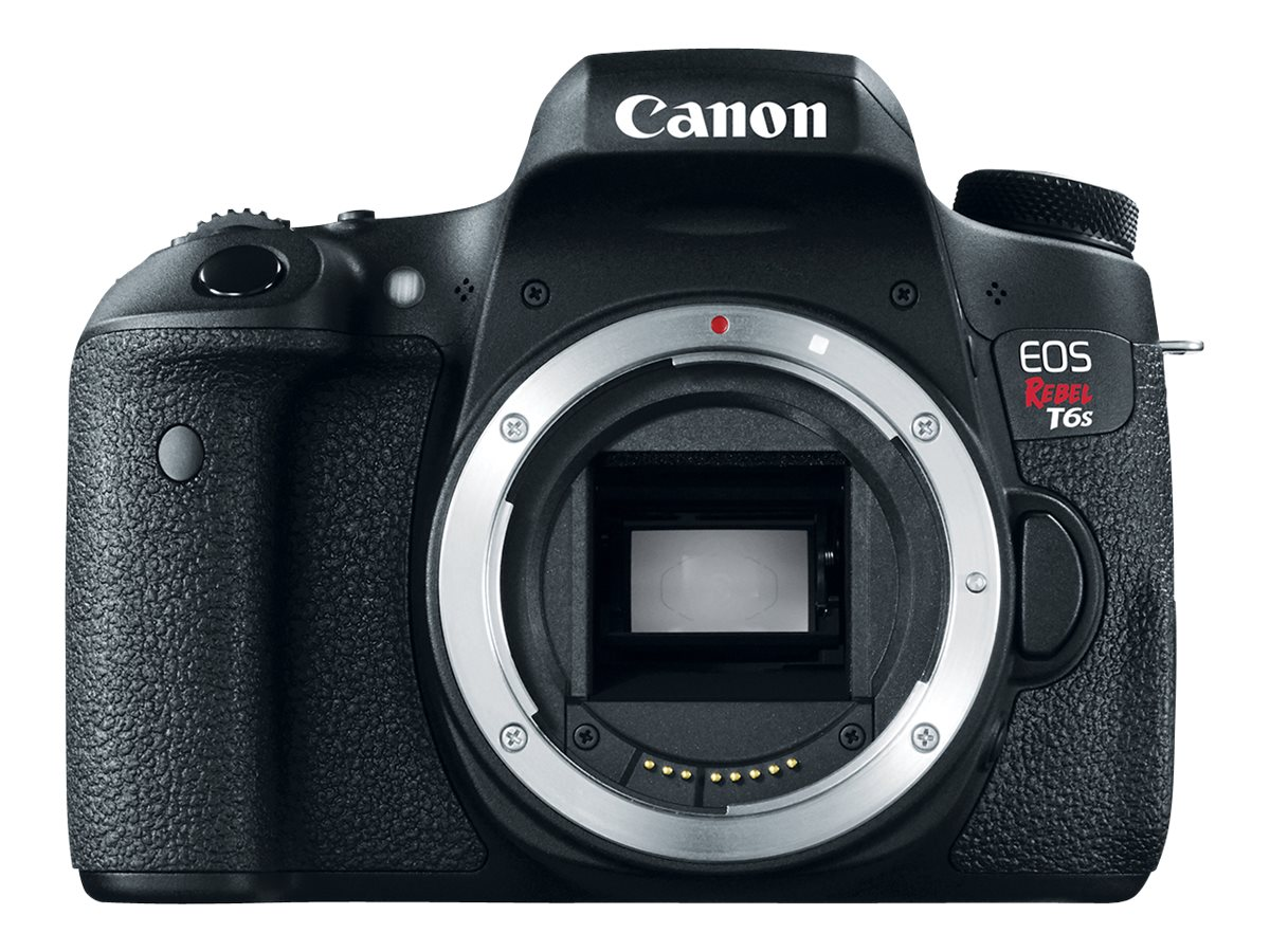Canon EOS Rebel T6s DSLR Camera, Black (Body Only)