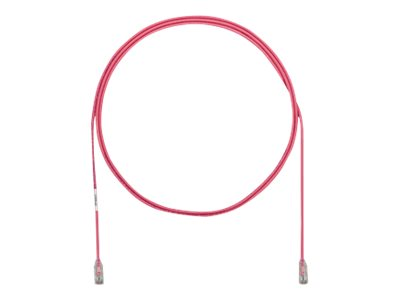 Panduit Cat6e 28AWG UTP CM LSZH Copper Patch Cable, Pink, 30ft