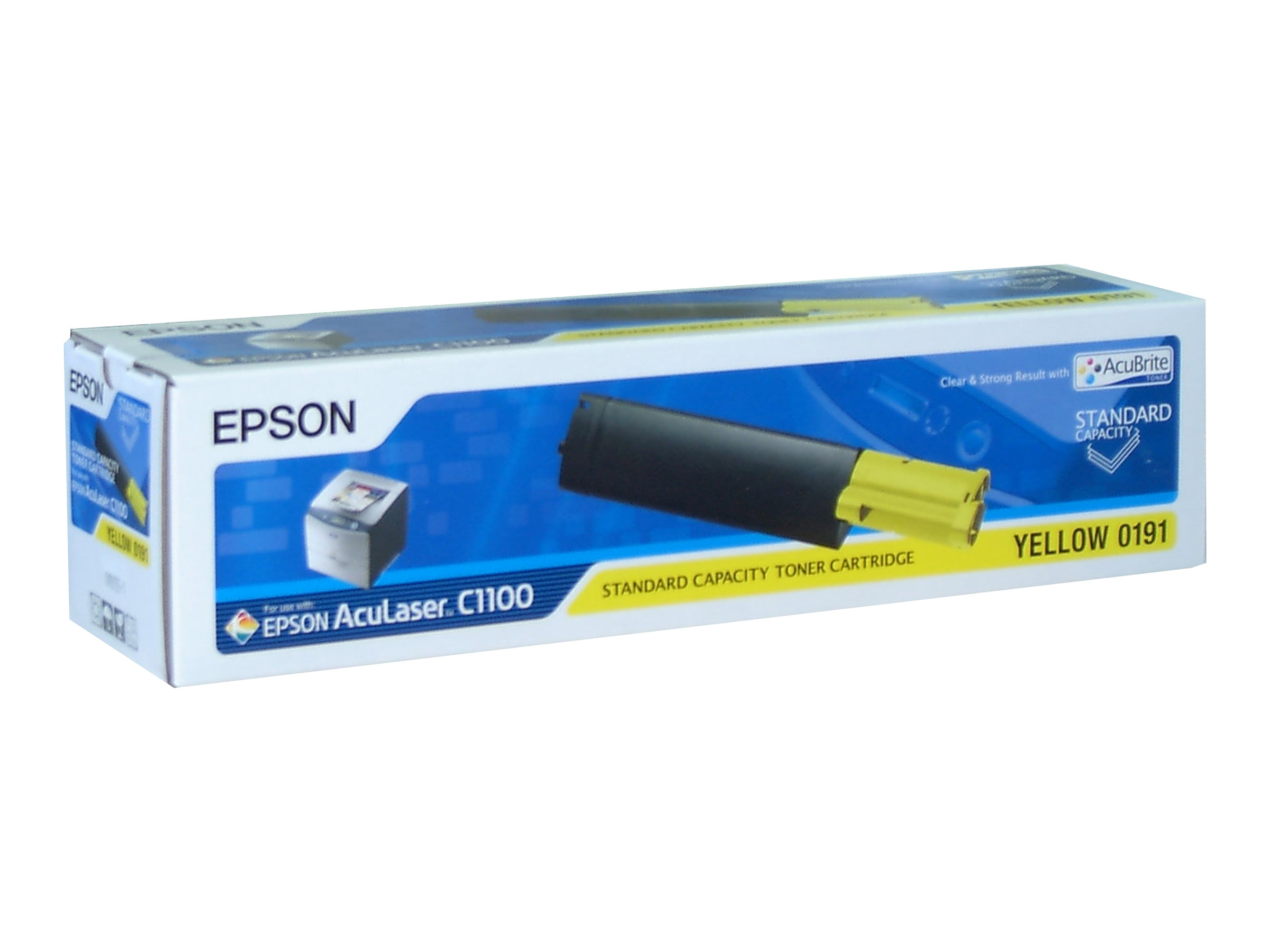 Epson Yellow Standard Capacity Toner Cartridge for Select AcuLaser Printers, S050191