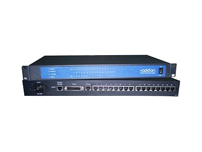 ACP-EP 100Mbps RJ-45 to 16-port Media Converter, ADD-SERIAL-SERV-16