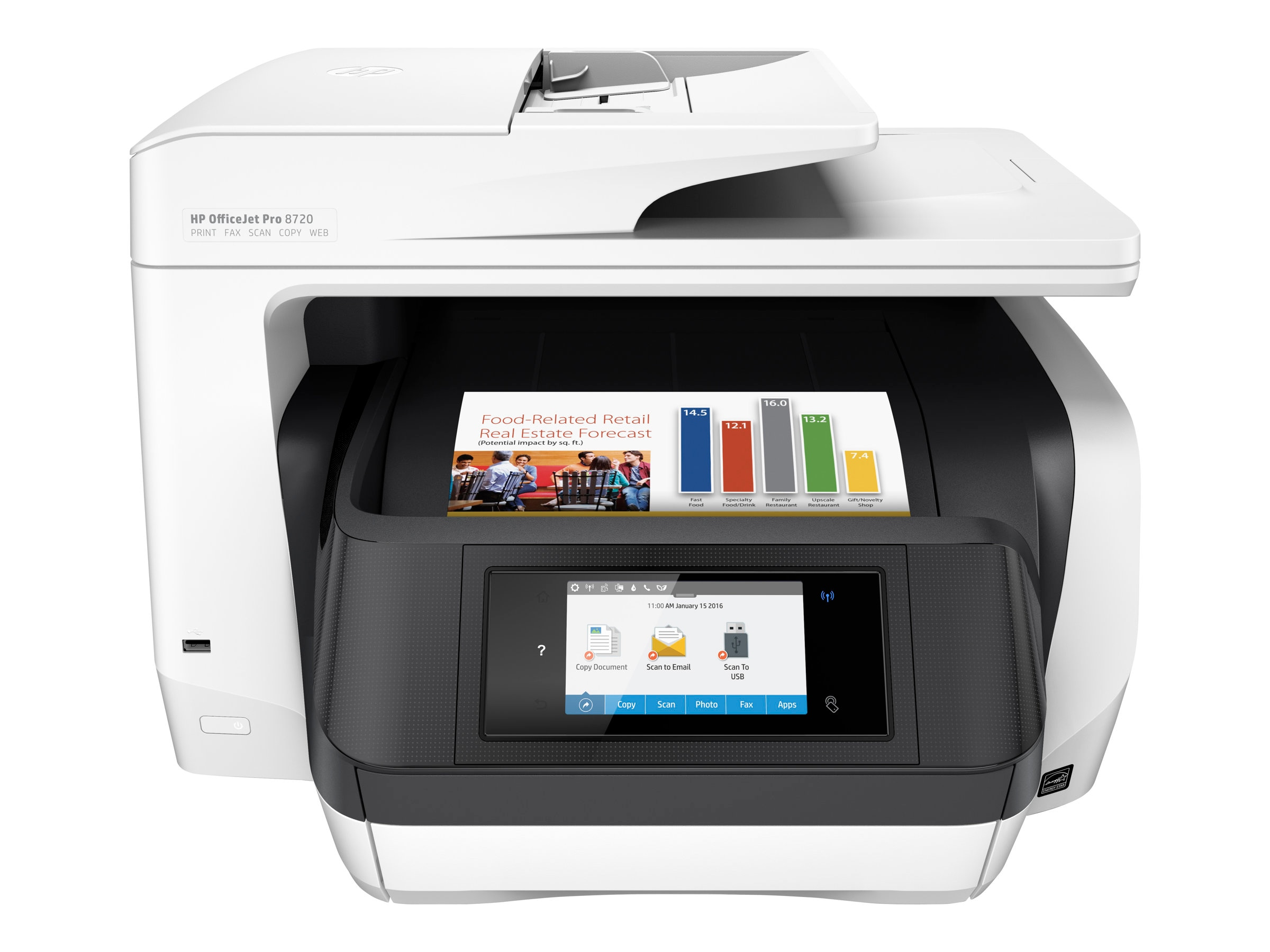 Open Box HP Officejet Pro 8720 All-In-One Printer, M9L75A#B1H