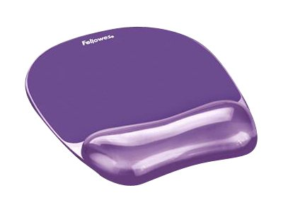 Fellowes Gel Crystal Wrist Rest Mouse Pad - Purple, 91441, 4934847, Ergonomic Products