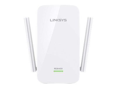 Linksys AC1200 Dual Band Boost Ex Wi-Fi Range Extender, RE6400, 30842671, Network Extenders