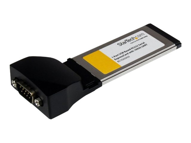 StarTech.com 1-port ExpressCard to RS232 DB9 Serial Adapter Card with 16950, USB-Based