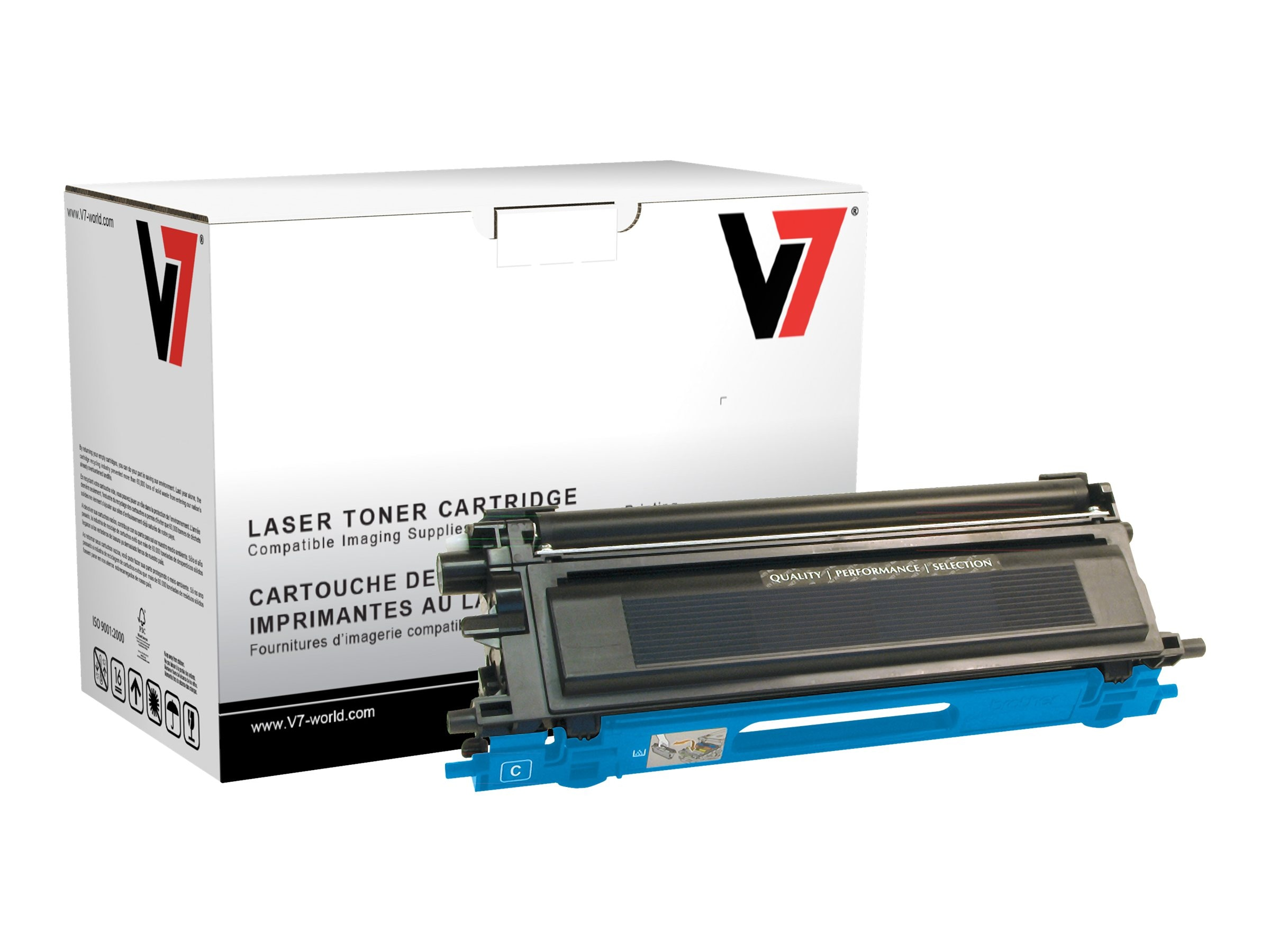V7 TN115C Cyan High Yield Toner Cartridge for Brother HL-4040 (TAA Compliant)