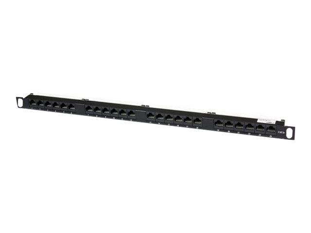 StarTech.com Cat5e 110 Patch Panel, 0.5U, 24-Port