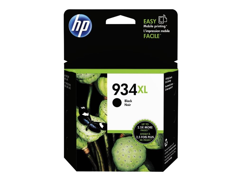 HP 934XL (C2P23AN) High Yield Black Original Ink Cartridge, C2P23AN#140, 17455132, Ink Cartridges & Ink Refill Kits