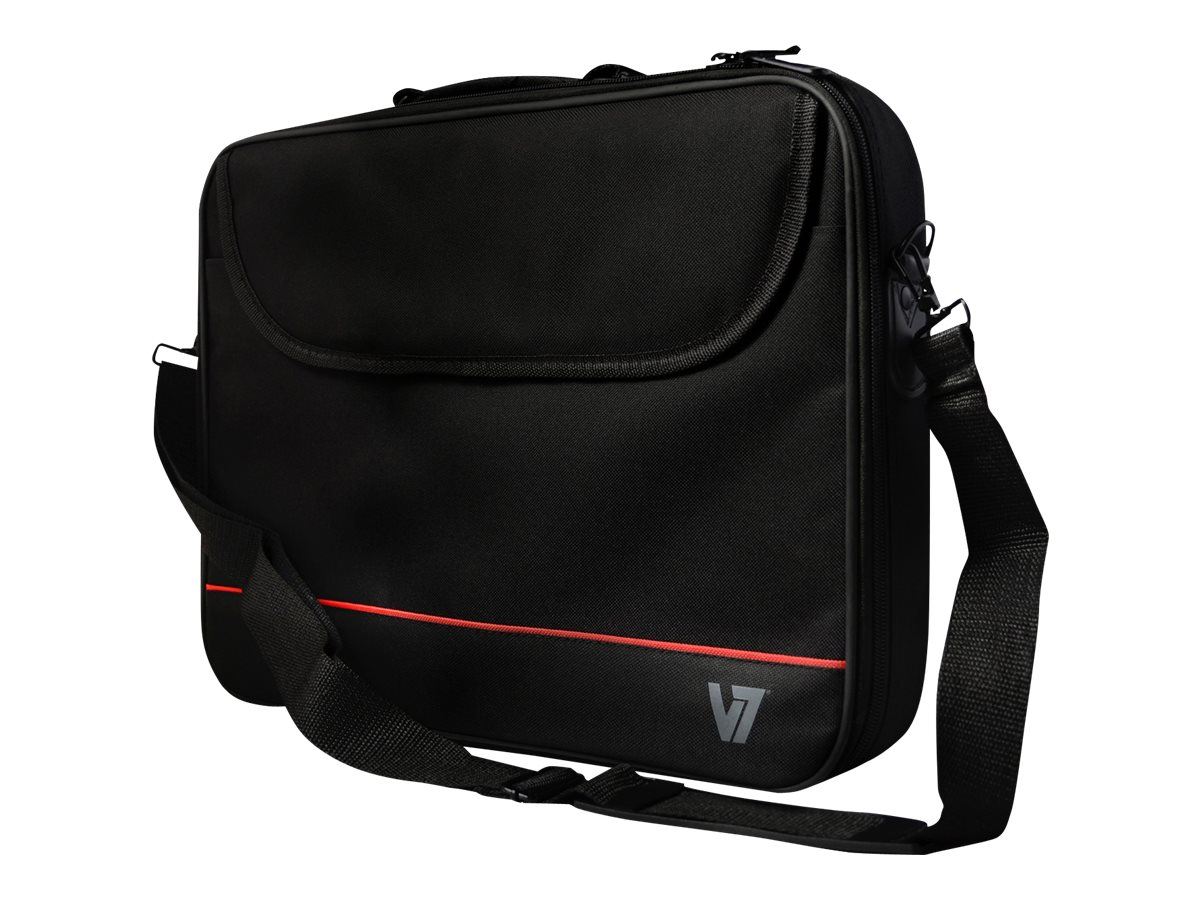 V7 Front Loader Entry Level Polyster Bag for 15.6 Laptop, CCK1-3N