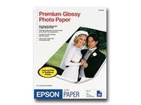 Epson Premium Glossy Photo Paper 50 Sheets - 8.5x11, S041667, 323111, Paper, Labels & Other Print Media
