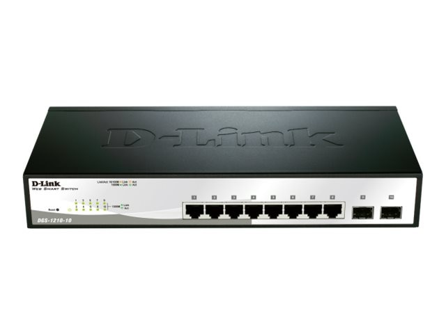 D-Link Web Smart 10 Port Gigabit Switch, DGS-1210-10