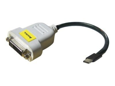 Accell UltraAV Mini DisplayPort to DVI-D SL Adapter, B087B-004B, 11972374, Adapters & Port Converters