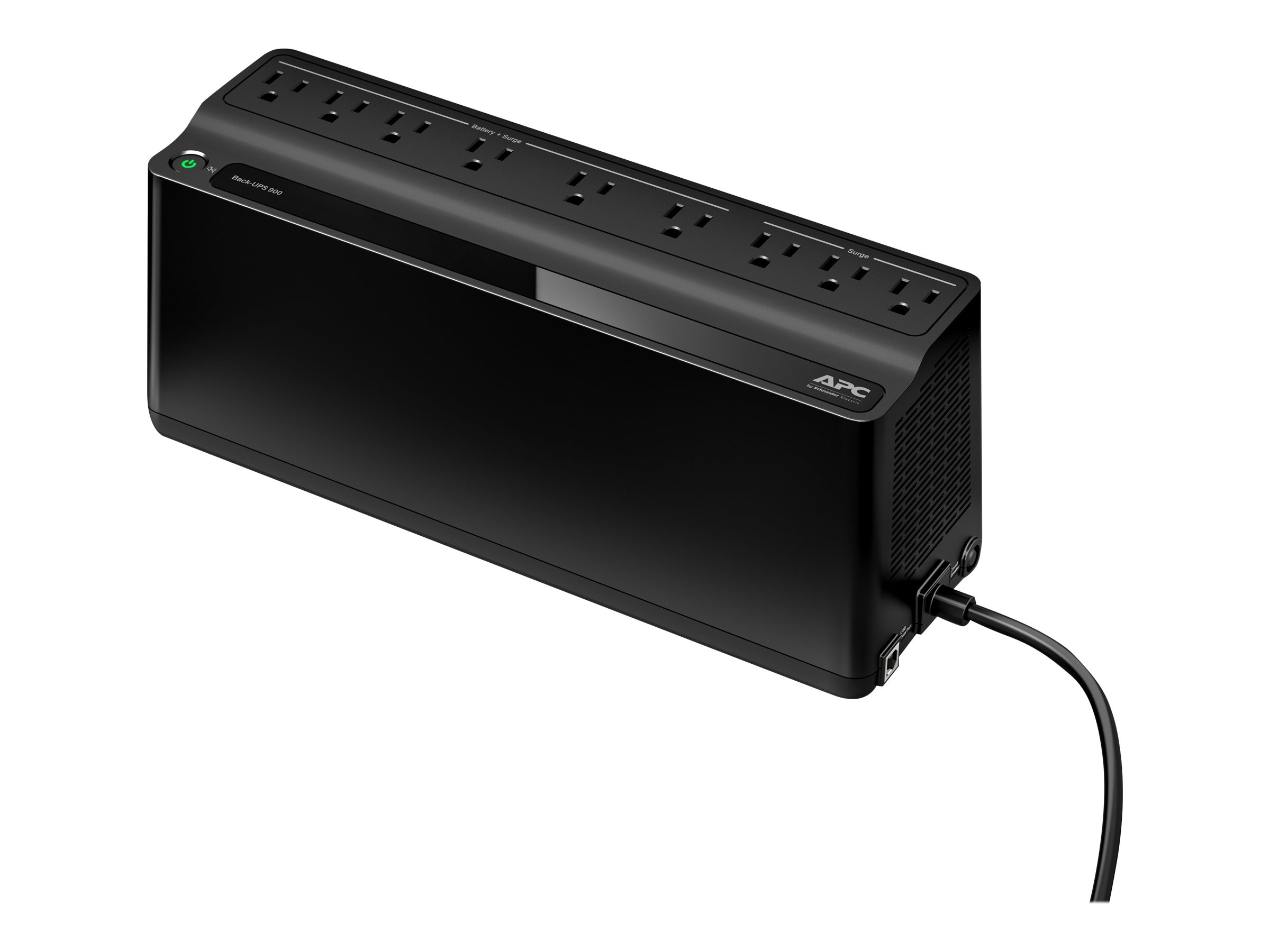 APC Back-UPS 900VA 480W 120V 5-15P Input 5ft Cord (9) Outlets USB Energy Star, BN900M