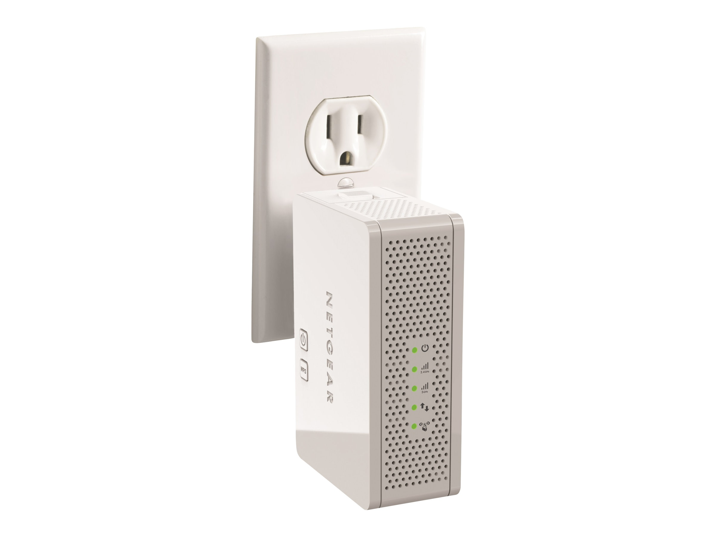 Netgear Universal Dual Band WiFi Range Extender, Wall-plug Edition, WN3500RP-100NAS, 14896207, Network Extenders