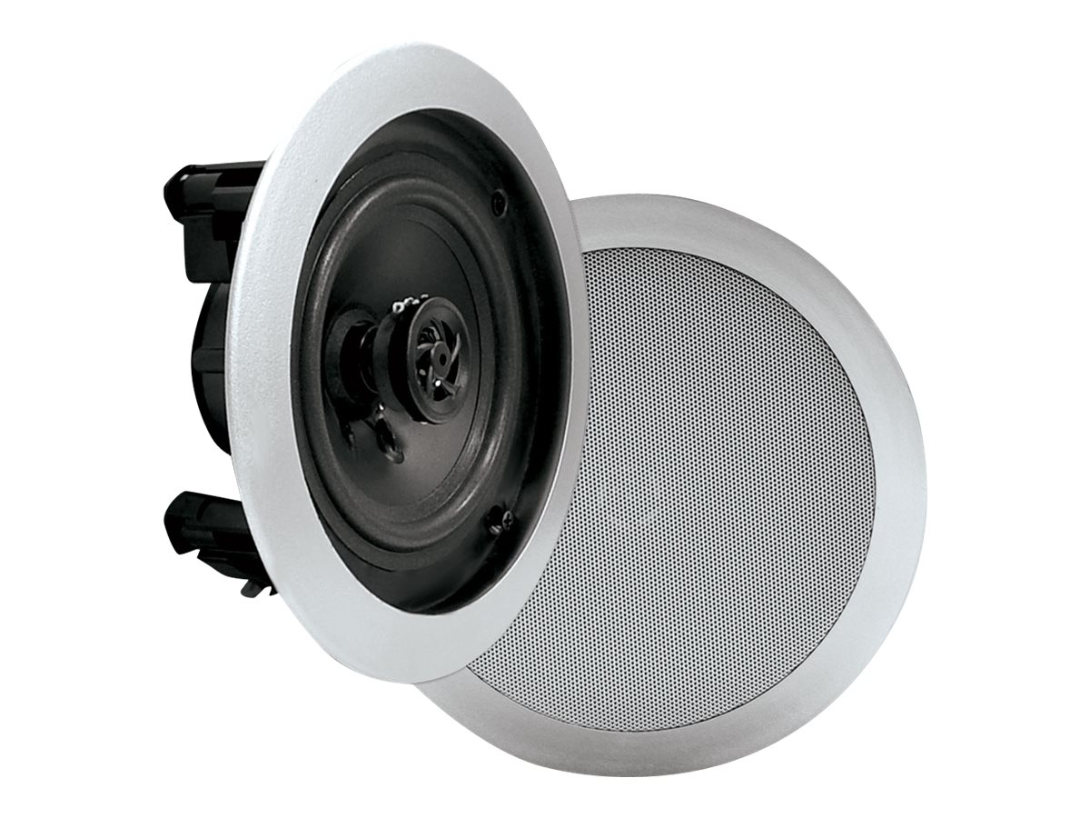 Pyle 6.5 Two-Way In-Ceiling Speaker System - Silver, PDIC61RDSL
