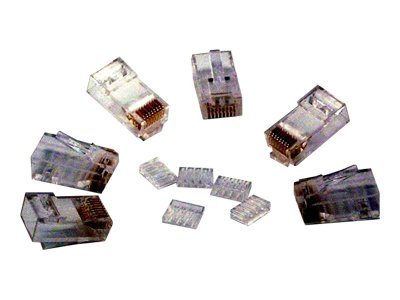 Micro Connectors Cat6 RJ45 Modular Plug, 100-Pack, C20-088L6-100, 7107100, Cable Accessories