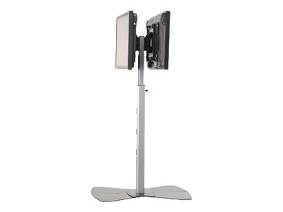Chief Manufacturing Medium Flat Panel Dual Display Floor Stand for 30-55 Displays, Black, MF26000B, 18043931, Stands & Mounts - AV