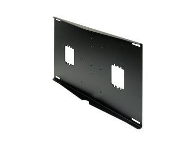 Peerless External Wall Plate with Electrical Knockouts, Black, WSP425, 6465386, Stands & Mounts - AV