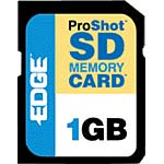Edge 1GB ProShot Secure Digital Card, PE200534, 5866954, Memory - Flash