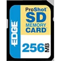 Edge 256MB ProShot Secure Digital Card, PE200510, 5866938, Memory - Flash